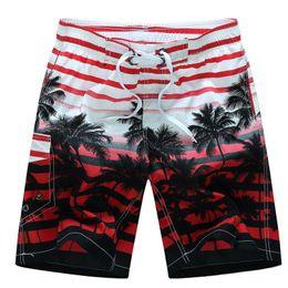 d35bb52c8f Summer Board Shorts Beach Surfing Liner Swimwear Fitness Bodybuilding Swimming  Trunks Coconut Tree Men's Bathing Suit Plus Size C19040801