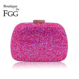 $enCountryForm.capitalKeyWord Australia - Boutique De Fgg Dazzling Hot Pink Diamond Evening Bags Wedding Cocktail Prom Handbag And Purse Women Crystal Clutch Hand Bag Y190626