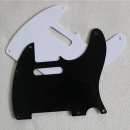 Black Guitar Screws Australia - New Meifen TL electric guitar single layer shield black white 5 hole standard neck pickup slot with screws