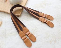 Wholesale Cowhide Handbag Australia - Handmade leather belt bag with accessories webbing mixed patchwork DIY brown cowhide handle handbag shoulder strap
