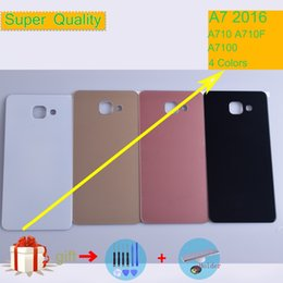 Clear Housing Australia - For Samsung Galaxy A7 2016 A710 A710F A7100 Housing Battery Cover Back Cover Case Rear Door Chassis A7 2016 Shell