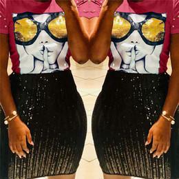 Best Wholesale T Shirts Australia - 2019 Summer Women T shirt 3D Sequin Glass Nail Beads Luxury Tops Tees Womens Designer T Shirts Short Sleeve Patchwork TShirt best A22802
