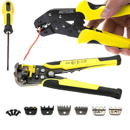 Crimping Cutter Australia - Professional Wire Crimper Stripper Cable Cutter Automatic 4 In 1 Multifunctional Terminal Stripping Crimping Pliers Tools