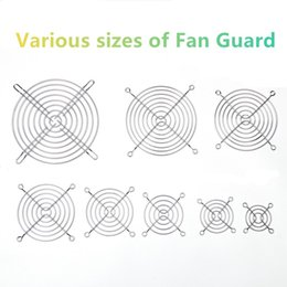 fan guard wholesale UK - 30mm 40mm 50mm 60mm 70mm 80mm 90mm 110mm 120mm 135mm 140mm Metal Fan Guard Protective Grill for PC