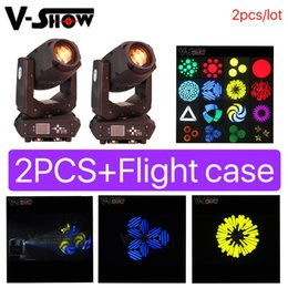 Moving Head Case Australia - 2pcs lot+case Moving head Spot Led 200W with zoom effect dmx control 3 facet prism dj stage light for wedding theater disco