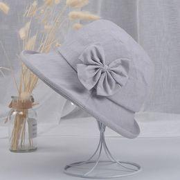 $enCountryForm.capitalKeyWord Australia - New Style Ladies Women Wide Brimmed Floppy Hat Bowknot Foldable Bow-knot Solid Summer Sun Beach Hat Elegant Beach Holiday