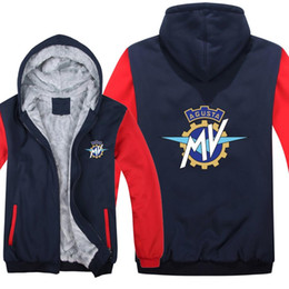 $enCountryForm.capitalKeyWord Australia - 2019 Fashion MV Agusta Hoodies Winter Men Fashion Wool Liner Jacket MV Agusta Motorcycle Sweatshirts Men's Coat men's Hoodies