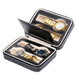 Discount holder wrist - Display Storage Leather Portable Zipper Wrist Jewelry Watch Box Organizer Holder