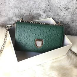 small genuine leather bag Canada - Elegant2019 Ostrich Grain Genuine Leather Woman Package Single Shoulder Span Small Bag Tide