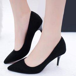 Venta al por mayor de Diseñador de zapatos de vestir de color caramelo vestido de las mujeres del dedo del pie puntiagudo bombas tacones altos tacones delgados señoras grandes de gran tamaño 34-42 zapatos mujer primavera