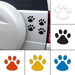 $enCountryForm.capitalKeyWord Australia - Cool Design Car Sticker Animal Dog Cat Bear Foot Prints Footprint Decal Car Stickers 4pcs