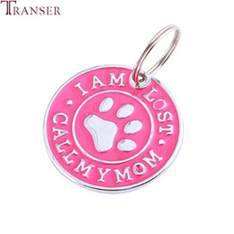 $enCountryForm.capitalKeyWord Australia - Transer Pet Dog Cat ID Name Tags I AM LOST CALL MY MOM Round Shape Pet Collar Necklace Pendants Groomng Accessory 90423
