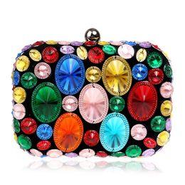 $enCountryForm.capitalKeyWord Australia - Elegant Ladies Evening Clutch Bag with Chain Diamond Sequin Color Shoulder Bag Women's Handbags Purse for Wedding