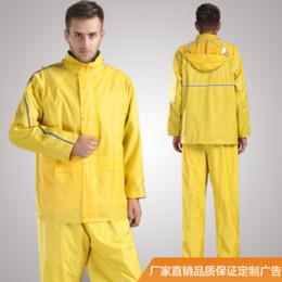 $enCountryForm.capitalKeyWord Australia - Fashion Yellow Mens Rain Jacket Impermeable for Men Motorcycle Raincoat Pants Rain Suit Motorcycle