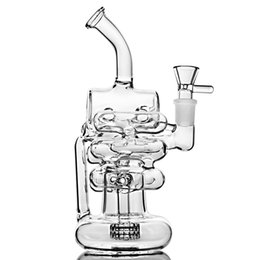 Large water pipe bong online shopping - 9 Inchs Tall Big Glass Bong Recycler Bong Water Pipes Dab Rigs Large Heady Glass Water Bongs With mm Bowl