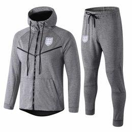 30a3cb34c 2018 19 English survetement hat jacket Training suit soccer Jersey  tracksuits England tracksuit football jacket hat tracksuit set yinggelan
