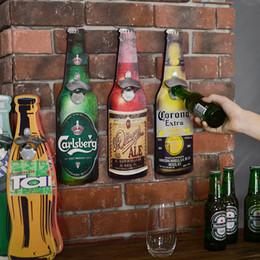 $enCountryForm.capitalKeyWord NZ - American Eroupean Vintage Style Beer Shaped Opener Bottle Openers Wall Mounted Wood Plaques Cap Catcher Q190603