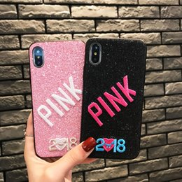Designs For Iphone Cases Australia - 2019 NEW Fashion Design Glitter 3D Embroidery Love Phone Case For iPhone X, iPhone 8, 7, 6 Plus