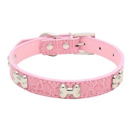 $enCountryForm.capitalKeyWord UK - 2019 Dog Collar Pet Necklace Accessory Alligator PU Leather Bone Pet Supply For Small Medium Dog Pet Dog Supplies