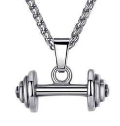 bodybuilding pendant Australia - Dumbbell Pendant Necklaces Luxury Jewelry Fitness Jewelry Fitness Necklace Bodybuilding Gym Barbell Necklace