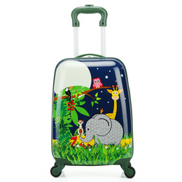 973b3d47333c 18 inch Cute Cartoon animal Children Rolling Luggage Spinner Suitcase  Wheels Trolley Kid Cabin School Bag Carry On Box