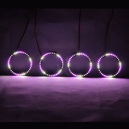 $enCountryForm.capitalKeyWord Australia - RGBW Angel Eyes Revolving Lights DRL LED Rolling Light Multi-Color Wireless Control RF 80mm 90mm 100mm 106mm 120mm 160mm