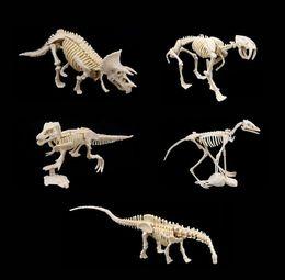 $enCountryForm.capitalKeyWord Australia - New Archaeological toy creative DIY mining dinosaur fossil assembly model toy Tyrannosaurus Rex Raptor Child building block toy