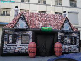 Ingrosso 8m Outdoor gonfiato Bar Retro gonfiabile Bar Booth Tenda con benna