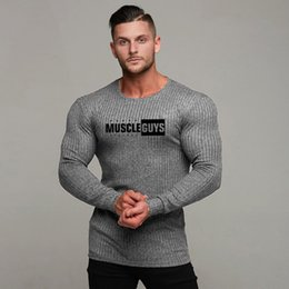 $enCountryForm.capitalKeyWord Australia - Men Fashion T Shirt NEW Spring Summer Slim Shirts Male Tops Leisure Bodybuilding Long Sleeve Personality Tees Clothing