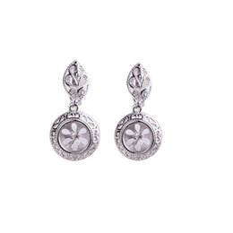 Mounted Stone Set Australia - 925 Sterling Silver Women Earrings 8mm 9mm 10mm Round Cabochon Semi Mount Clip Earrings Vintage DIY Stone Wholesale Setting