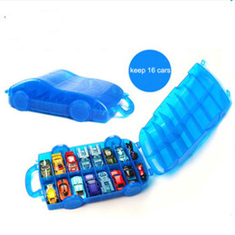Car storage Cell phone online shopping - Hot Wheels Car Model Has Piece Storage Box Hotwheels Cars Toy Parking Cell Phone Models Mobile Folding Two Wheel Direction