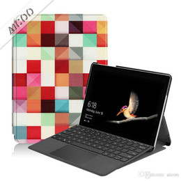 Color Leather Bags Australia - PU Leather Ultra Slim Flip Folding Folio Cover Protective shockproof Tablet Stand Case Cover for Microsoft Surface go 10 pro 4 5 6 Opp Bag