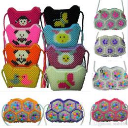 Kids One Shoulder Backpack Australia - Handmade Crystal Beaded Bag One Shoulder Backpack Luxury Bag For Children Kids Women XMas Evening bags Travel Storage Bag 11Color HH7-1833