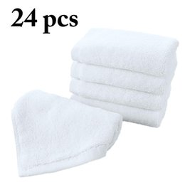 $enCountryForm.capitalKeyWord NZ - 24PCS High Quality White Cotton Towel Baby Washcloth Soft Water Absorbent Cotton Baby Face Towel Home Textile Products