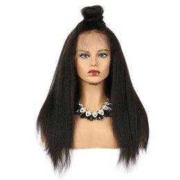 Human Hair Lace Wigs Queen UK - 360 Lace Frontal Kinky Straight Wig Front Plucked With Baby Hair Remy Brazilian Human Hair Wigs For Women King Rosa Queen
