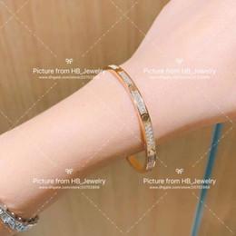 Wholesale full diamond gold screws screwdriver charm bracelets bangle pulsera for women Party wedding gift jewelry with box