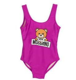 Jumpsuits for beach online shopping - children s swimsuit girls jumpsuits Swim Kids beach clothes One Pieces Designer swimwear printing letter Brand clothes for girl