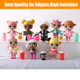Baby Figures Australia - Doll 10CM Ball Doll Toys Free Shipping DIY Wear clothes Bottle Girl Doll Baby Change with Glasses Action Figure Toys Kids Gift
