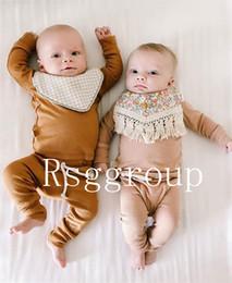 $enCountryForm.capitalKeyWord Australia - INS Free DHL Tassel Baby Bibs Infant Cotton Linen Burp Cloths Double Layer Newborn Bibs Kids Bandanas Geometry Animal Printed 40 Designs