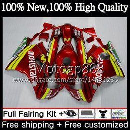 Honda Cbr F2 Red Fairings Australia - Body For HONDA CBR 600F2 FS CBR600 F2 91 92 93 94 46PG19 CBR600FS CBR 600 F2 CBR600F2 1991 1992 1993 1994 Fairing Bodywork Movistar red