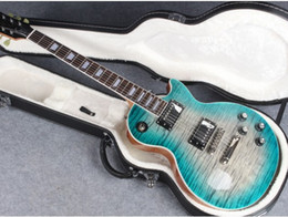Super guitarS online shopping - standard Super deluxe Custom Electric Guitar Marine burst with Flame Maple top