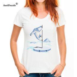 $enCountryForm.capitalKeyWord Australia - Women North Pole Dancer T Shirts Site Retro Size L Dancing polar bear {tshirt woman Shirts Hot Sale