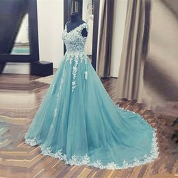 prom dresses beautiful Australia - NBS026 New Beautiful Custom Made Evening Dress Ball Gown V Neck Prom Formal Dress Vintage Lace Girls Party Dresses