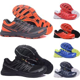 S lab online shopping - Designer Speed Cross S lab Men Running Shoes Triple Black Red Blue Outdoor Walking Hiking Sneakers Athletic SpeedCross S Lab sports Shoes
