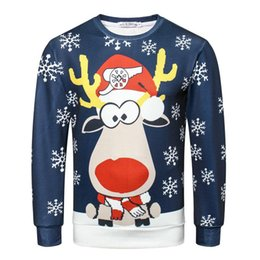 e7014c1e 3D Jumper Snowman Deer NEW Santa Claus Xmas Patterned Sweater Ugly Christmas  Sweaters Tops For Men Women Pullovers