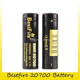 bestfire battery Australia - Authentic BestFire BMR 20700 Battery 3000mAh 50A 3.7V High Drain Rechargeable Batteries for Original 510 thread Box Mod 100% Genuine 0204203