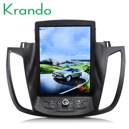 "Cassette Stereo Australia - Krando Android 7.1 10.4"" Tesla Vertical car DVD player for ford Kuga Escape 2013-2017 navigation system multimedia stereo audio KD-FV224"