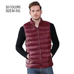 Plus Size Winter Vests Australia - Vest Men New Stylish Spring Autumn Warm Sleeveless Jacket Men Winter Waistcoat Men's Vest Fashion Casual Coats Mens Plus Size
