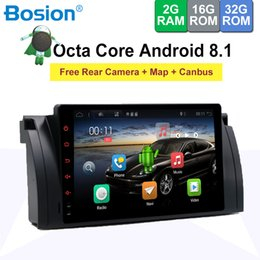 """Gps Free Maps Wifi Australia - 9"""" Android 8.1 Car DVD Stereo GPS for BMW E39 E53 E38 M5 with WiFi BT Radio Free Camera Canbus Built in Map"""