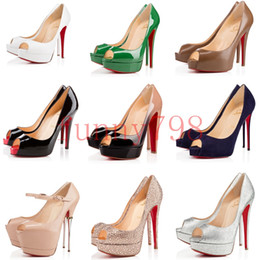 f77ad51aa980 With box 2019 best designer sexy fish mouth waterproof platform high heel  women's fine with spring and summer wild light red bottoms shoes